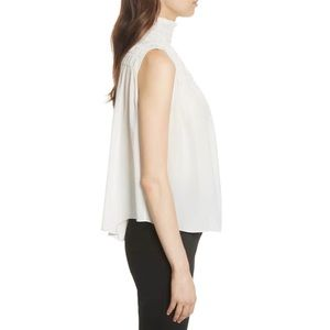 58dfeb82b75f0 FRAME Tops - FRAME Smocked Sleeveless Silk Blouse